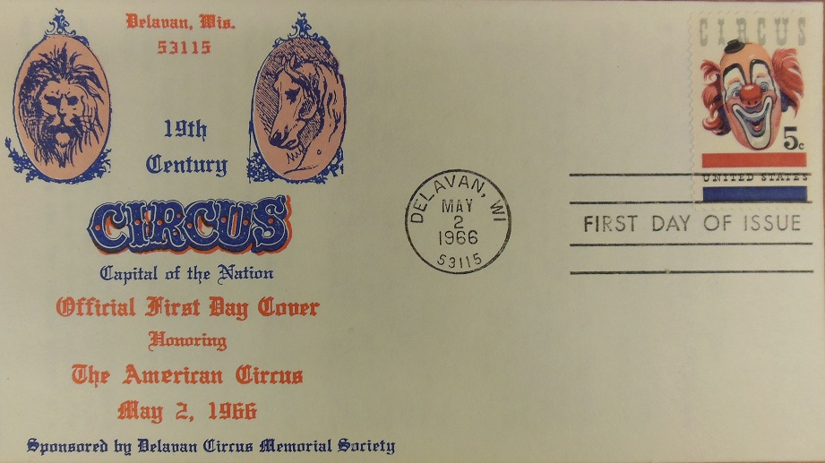 Circus Stamp First Day Cover-1