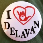 I Love Delavan Pins